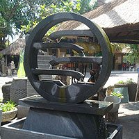 Balinese water wheel - Contemporary design