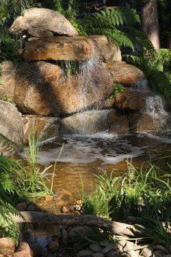 Natural Stone Water Feature and Waterfall
