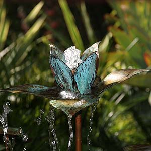 Copper Lotus Water  Feature