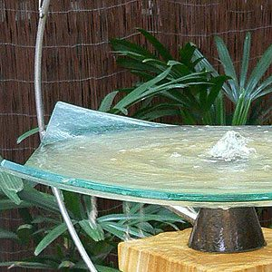 Glass water feature