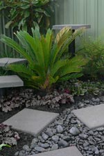 Garden Path Rock and Pavers