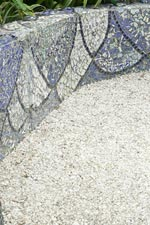 Garden Path Mosaic Wall and Crushed Rock