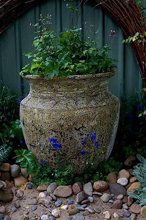 Rustic garden pot
