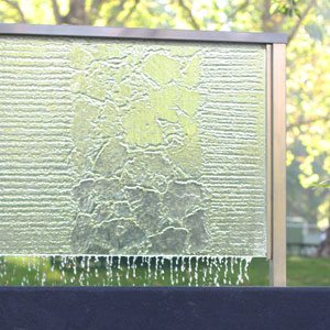 etched glass water feature