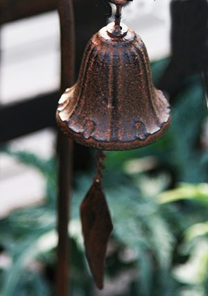 Bell used as Garden Art