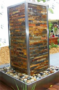 Stacked Stone Water Fountain