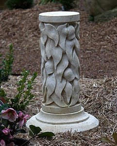 hand carved garden column