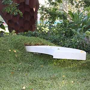 Sculptural garden seat