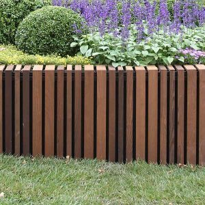 metal garden edging timber raised garden edging