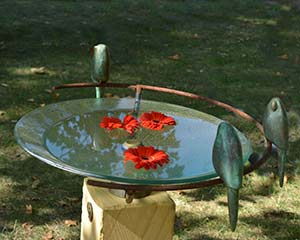Glass Bird Bath - Folko Kooper
